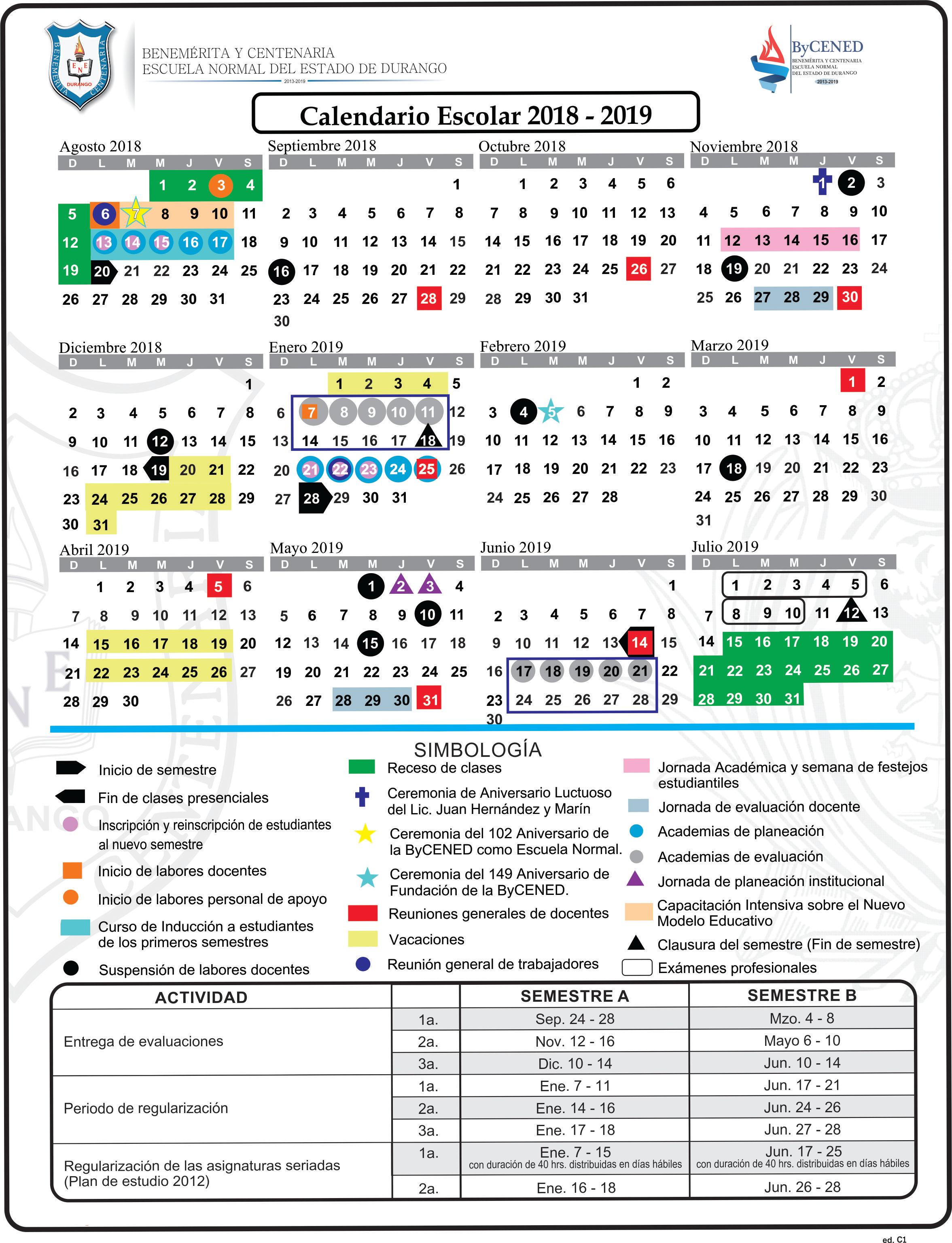 Calendario CICLO 18-19 ed C1