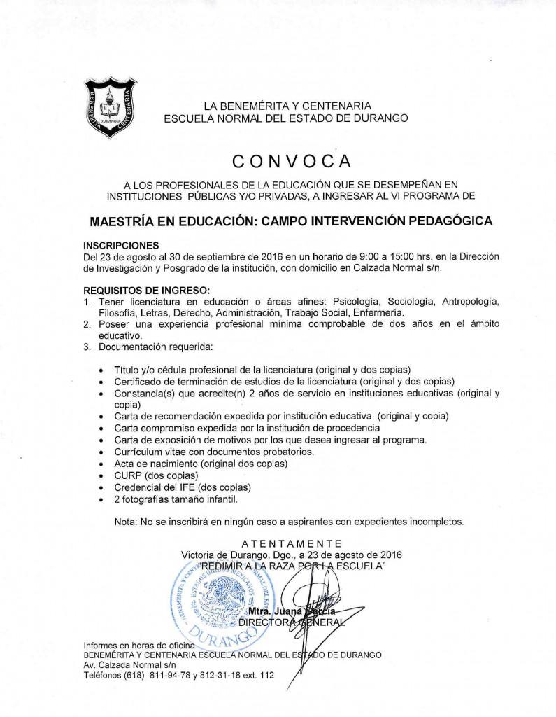 ConvicatoriaMaestria